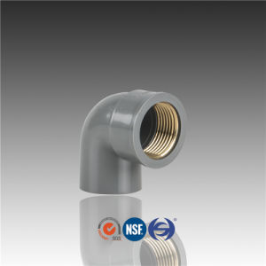 PVC Copper Threaded Elbow 90 Degree Fittings pictures & photos