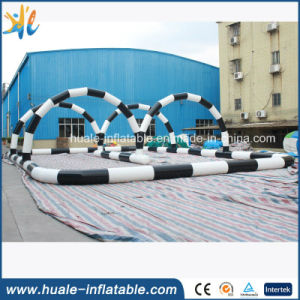 Factory PVC Race Road Air Sports Game Inflatable Race Track