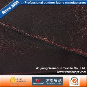 Red Black Memory Lurex Fabric for Garment