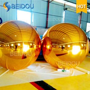 Wedding Event Stage Decorative Mirror Balls Gold Mini Disco Inflatable Mirror Ball pictures & photos