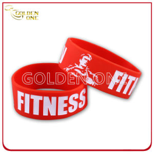 Promotion Gifts Cheap Price Logo Color Fill Rubber Bracelet pictures & photos