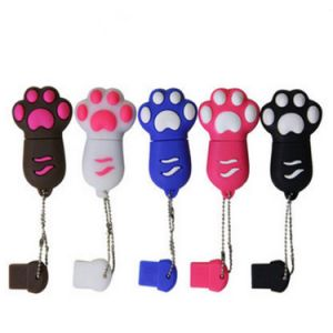 Wholesale Cute Cat Foot Cartoon USB Flash Drive (MZGJ) pictures & photos