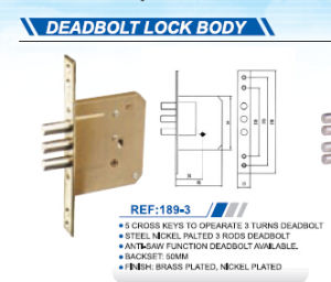 Hot Sale Deadbolt Lock Body pictures & photos