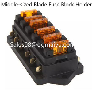 Universal Car Truck Vehicle 6 Way Circuit Automotive Blade Fuse Block Holder pictures & photos