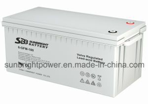 Maintenance Free 12V180ah Deep Cycle Solar Power Battery pictures & photos
