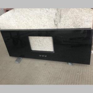 Black Galaxy Granite Bathroom Countertop pictures & photos