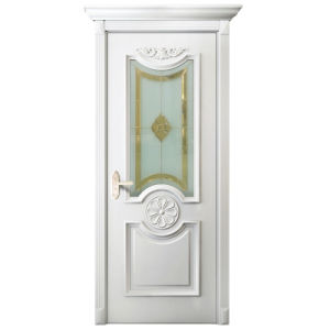 Oppein White Glass Wooden Interior Door with Lacquer Finish (MSPD46) pictures & photos
