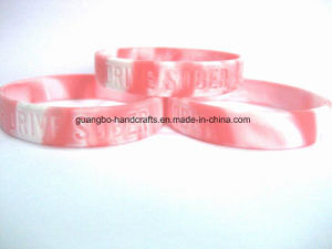 Silicone Charm Printed Bracelet 2016 pictures & photos