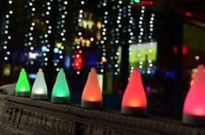 Solar Power Chargeable Solar LED Light House Yard Garden Decorative Colorful Light pictures & photos