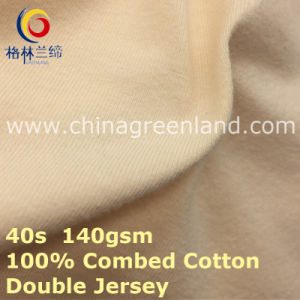 Double Jersey Cotton Knitted Fabric for Polo T-Shirt (GLLML422) pictures & photos