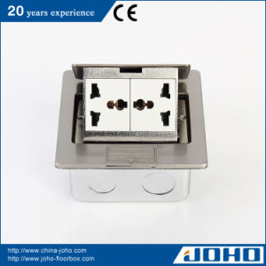 Stainless Steel Pop up Floor Socket Box with Universal Outlet