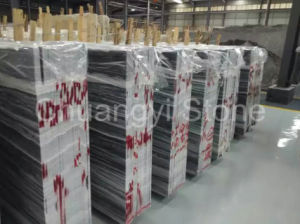 Chinese Grey Wooden Marble for Wall and Flooring Tile pictures & photos