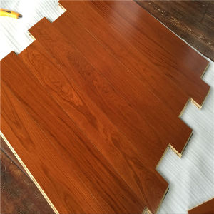 Anti-Insect UV Coating Texture Handscraped Oak 3-Ply Wood Flooring pictures & photos