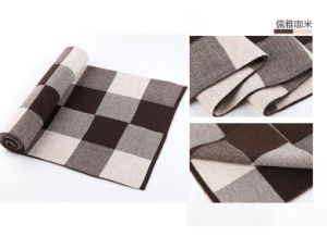 Men′s Checked Pattern Wool Woven Winter Warm Scarf (YKY4609) pictures & photos