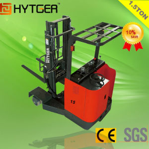 Hytger 1.5ton Electric Reach Forklift for Narrow Aisle pictures & photos