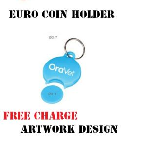 Plastic Coin Holder with Keychain pictures & photos
