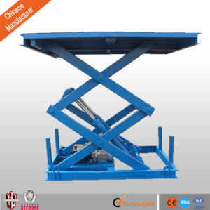 Cargo Lift Hydraulic Stationary Platform Scissor Lift for Sale pictures & photos