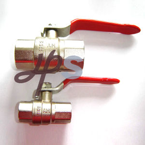 Brass Ball Valve F/F with Steel Plate Handle pictures & photos