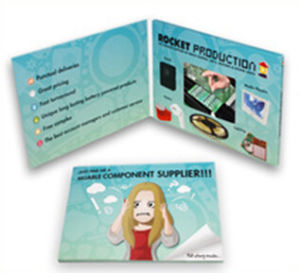 LCD Screen Video Invitation Card for Fairs pictures & photos