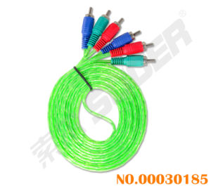 High Definition 3m AV Cable 3 RCA to 3 RCA Male to Male AV Cable (606-3m-white- green-blue Packing) pictures & photos