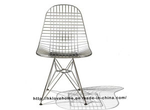 Replica Modern Metal Restaurant Knock Down Wire Eames Side Chair pictures & photos