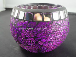 Home Exquisite High Quality Decor Mosaic Glass Candle Holder
