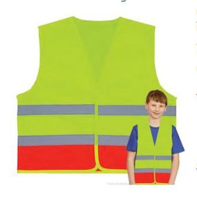 Kids Lime and Orange Safety Vest (Children 5-10 years) pictures & photos