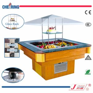 Cheering Catering Equipment R134/R404 Salad Bar Refrigerator Sale Commercial Refrigerated Salad Bar (E-P1600FL8) pictures & photos