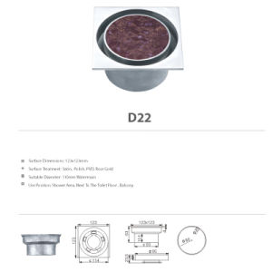 Stainless Steel Bathroom Hardware Floor Drain (D22) pictures & photos