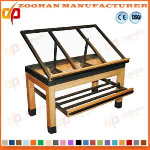 Supermarket Wooden Fruit and Vegetable Storage Display Shelving Rack Zhv60 pictures & photos