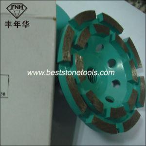 Cw-6 Segment Double Row Diamond Cup Grinding Wheel for Concrete pictures & photos