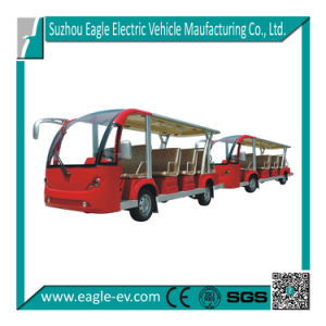 Electric Utility Vehicles, Eg6158t with Trailer, CE, Hydraulic Brake, Electric Tram pictures & photos