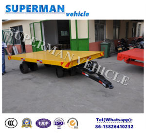 16t Flatbed Cargo Transport Agricultrue Drawbar Trailer pictures & photos