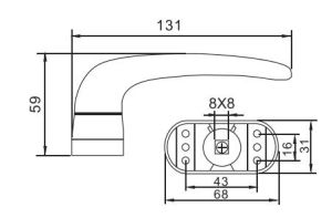 High Quality Door Handle with Round Seat pictures & photos