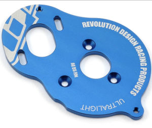 Custom Blue Anodized Aluminium Die Casting Heat Sink Motorplate pictures & photos