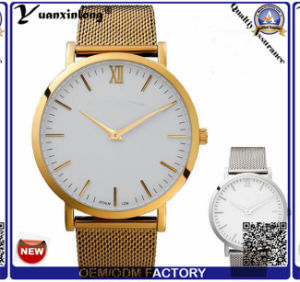 Yxl-792 Simple Design Custom Name Brand Mesh Band Men′s Watch in Roman Number Dial Face pictures & photos