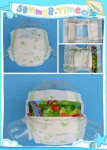 Economic Disposable Baby Diaper with PE Film