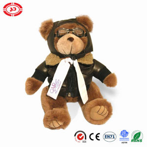 Pilot Plush Brown Bear Toy Well Dressed Quality Teddy pictures & photos