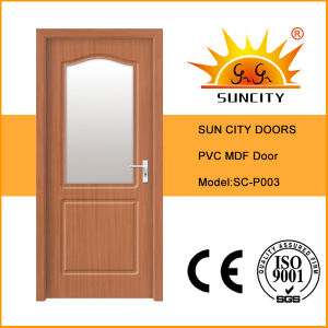 Wooden Interior Door with Frosted Glass (SC-P003) pictures & photos