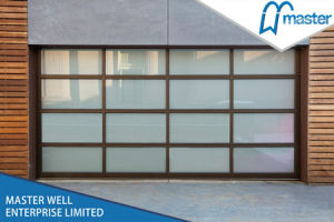 Modern Clear / Frosted / Mirror Glass Garage Door pictures & photos