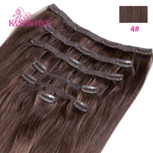 Remy Human Hair Virgin Brazilian Hair Clip in Hair Extension pictures & photos