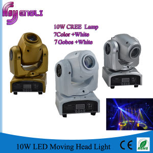 Mini 10W LED Disco Moving Head Stage Pattern Light (HL-014ST) pictures & photos