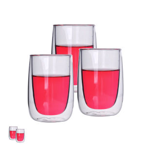 Standard Size Borosilicate Double Wall Drinking Glass pictures & photos