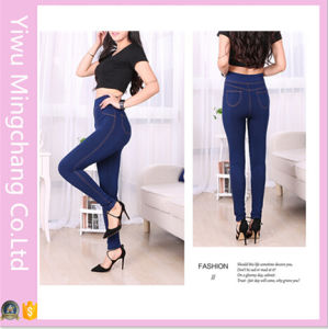 Fashion High Waist Solid Slimming Jeans Legging pictures & photos