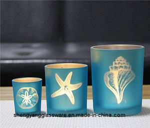Hot Sell Fashion Colorful Tea Light Handmade Glass Candle Holders pictures & photos