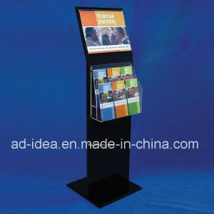 Hot Sale Black Acrylic Exhibition Stand for Magazine, Brochure pictures & photos