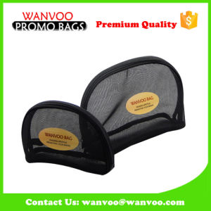 Wholesale Black Nylon Net Cosmetic Pouch Bag pictures & photos