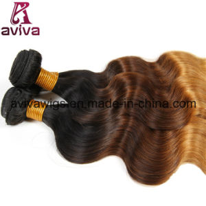 Body Wave 100% Virgin Hair Ombre Natural Hair Extension pictures & photos