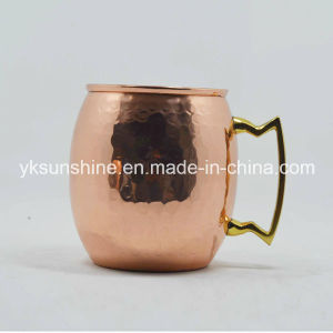 New Product 16oz 100% Solid Copper Moscow Mule Mug pictures & photos