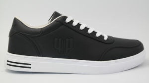 Leather Skateboarding Shoes Low Upper Walking Sneakers for Men (AKBX1) pictures & photos